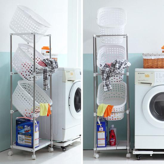 AH 이동형 세탁보관함(3단,4단중 택1)