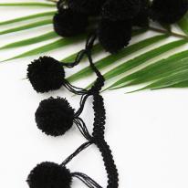 털방울레이스]솜사탕-블랙(99237)