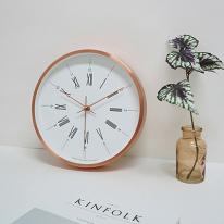 모던무소음벽시계(로즈골드)