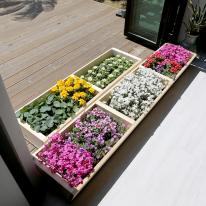 원목 텃밭 화분 1800(소형) 정원가구 베란다 꽃키우기 옥상꾸미기