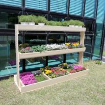 원목 텃밭 화분 1800(대형) 옥상꾸미기 주택 마당가구 꽂키우기 정원만들기