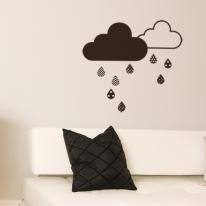 북유럽 데코스티커_구름과물방울