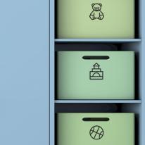 정리스티커 (42종류 중 낱개선택)_ 서랍, 장난감, 옷장 등 정리스티커
