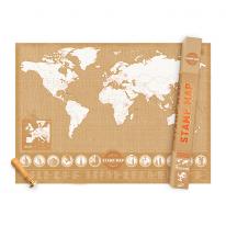 [원더스토어] 럭키스 스탬프 맵 세계지도