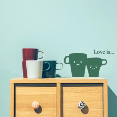 커플 컵 데코스티커