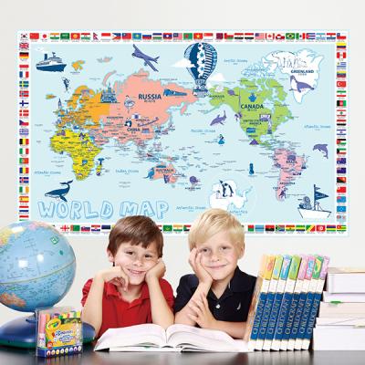 초간편 일러스트국기세계지도-P1201(블루)