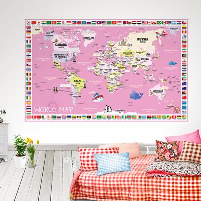 초간편 어린이국기세계지도-C1502(핑크)