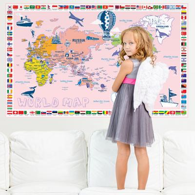 초간편 일러스트국기세계지도-P1202(핑크)