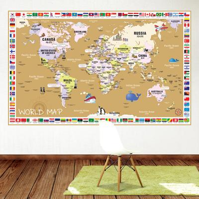 초간편 어린이국기세계지도-C1503(브라운)