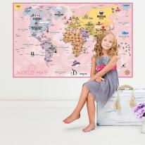 초간편 어린이세계지도-C1402(핑크)