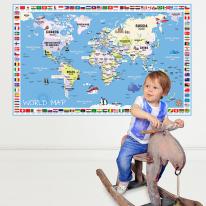 초간편 어린이국기세계지도-C1501(블루)