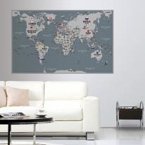 초간편 모던세계지도-M1202(그레이)