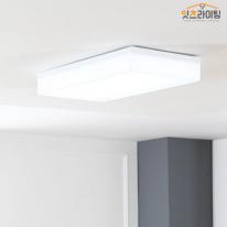 아스텔 화이트 LED60W 직사각 방등