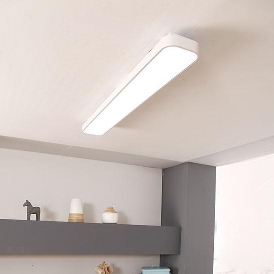 심플 화이트 LED60W 직사각 주방등