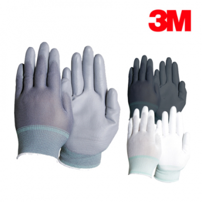 [3M] 장갑 코팅장갑 PU-PALM (흰색,회색,흑색) 5묶음