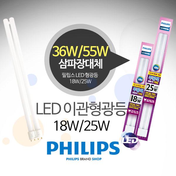필립스 LED FPL 형광등 18W/25W(삼파장36W/55W대체)