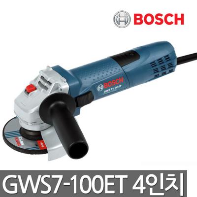[보쉬] 디스크그라인더 GWS7-100ET 4인치 속도 및 토르크조절