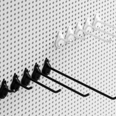 물방울 타공판 후크 (화이트/블랙)