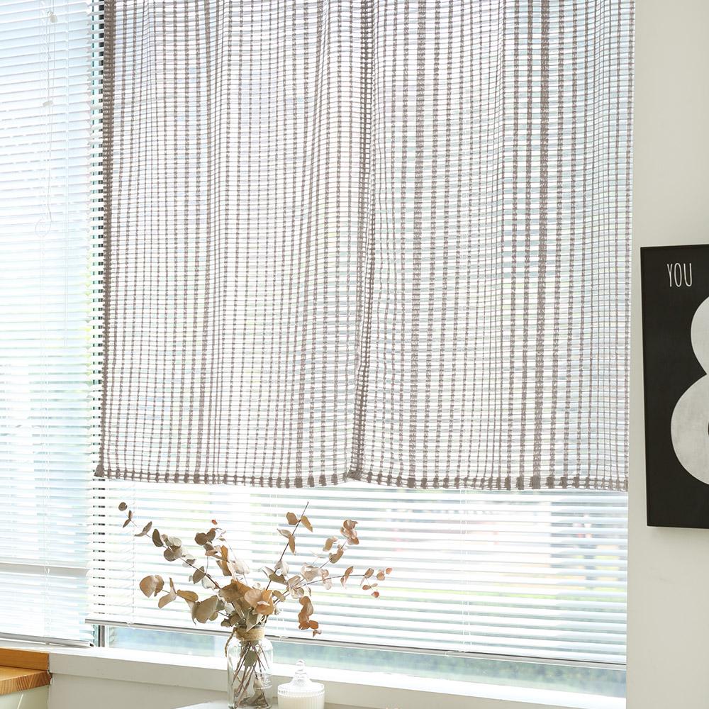 커플스퀘어댄스 가리개커튼-베이지 80x140(2장)