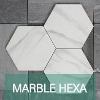 [퍼스타일] 마블 헥사곤 육각형 인테리어 타일 비앙코