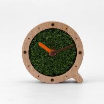힐링 잔디원목 탁상시계 (mini) ver.1