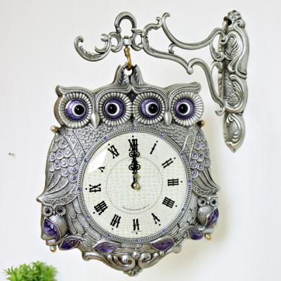 (kspz178)체리 쌍부엉이 양면시계 주석