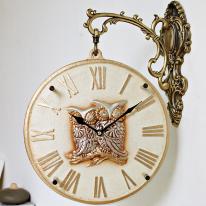 (ksiw010)펄 부엉이 양면시계 화이트