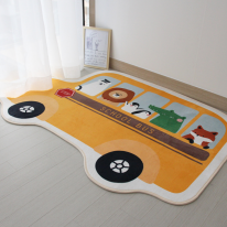 애니멀 스쿨 버스 극세사 러그 150×200