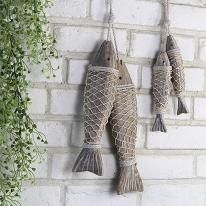 [콩지] 나무 물고기 장식 소