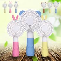 KC인증 안전한 미니 캐릭터 휴대용 선풍기