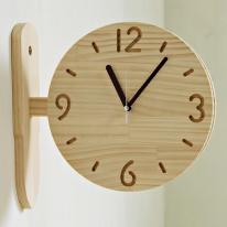 (ksjp480)원목 내추럴 싸이클 양면시계