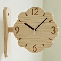 (ksjp479)원목 내추럴 플라워 양면시계