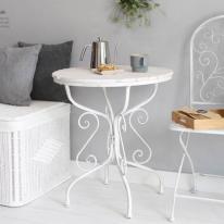 [2HOT] 빈티지 화이트 원형 테이블