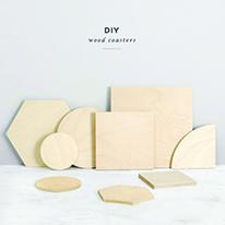 자작나무 DIY 우드 컵받침코스터 및 인테리어용품