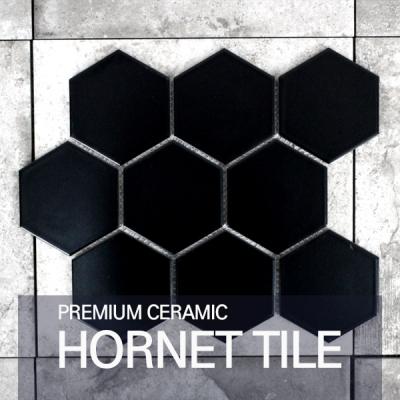 [퍼스타일] 호넷 블랙 모자이크 레그노 시리즈 인테리어 타일