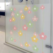 dgcn030-꽃문양 패턴6-무점착 반투명 창문 시트지