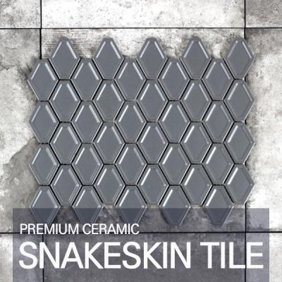[퍼스타일] 스네이크스킨 그레이 모자이크 레그노 시리즈 인테리어 타일