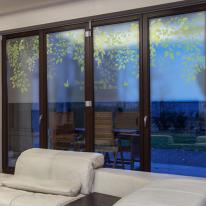 dgcn073-숲속의 클래식-무점착 반투명 창문 시트지