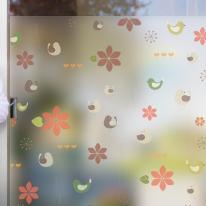 dgcn064-숲속-무점착 반투명 창문 시트지