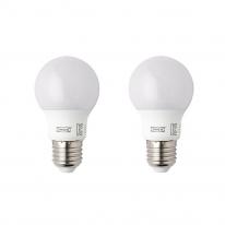 이케아 RYET LED전구 E26 400루멘, 구형 오팔 화이트 503.062.77 (1개입)