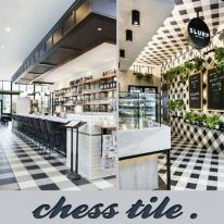 체스타일(블랙,화이트)200x200mm-벽,바닥겸용(박스판매)