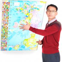세계지도 직소 퍼즐 190pcs 미션상금 1300만원