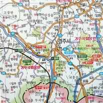 전국행정도로 남한 지도 110x150cm 우리나라 전국지도