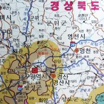대한민국 전도 75x110cm 우리나라 전국 지도 보기