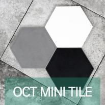 [퍼스타일] OCT MINI 헥사곤 육각형 인테리어 타일