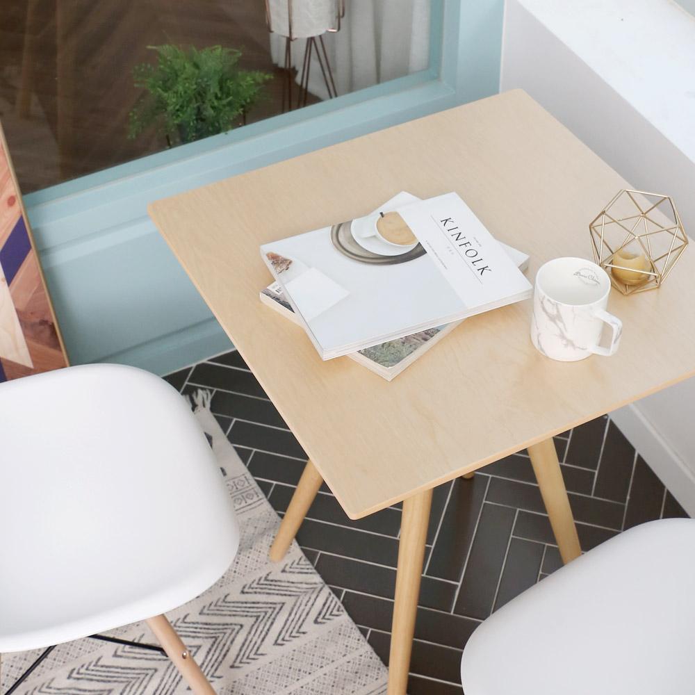 세레나 원목 테이블 600 사각