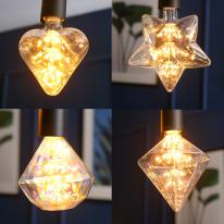LED에디슨 눈꽃램프2W 5타입(카페전구,포인트전구)