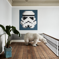 인테리어 월아트 익시 - Stormtrooper Pixel 스타워즈 스톰트루퍼 픽셀