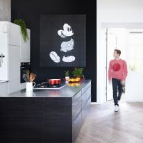 인테리어 월아트 익시 - Mickey Mouse black/white 미키마우스