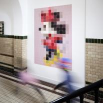 인테리어 월아트 익시 - Minnie Mouse pixel 미니마우스 픽셀